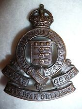 RCOC (Royal Canadian Ordnance Corps) Officer's Bronze Cap Badge, WW2 era