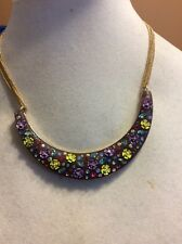 $65 Betsey Johnson Spring Ahead Lucite  Flower Necklace Ab 2 (2)
