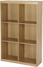 NEW Tesco Maine 2 x 3 Cube 6 Shelf Storage Bookcase (Oak Effect)