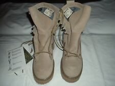 MEN'S BATES US ARMY TEMPERATE WEATHER TAN COMBAT BOOTS - SIZE 2.5 NARROW