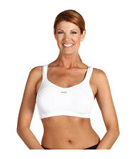 SHOCK ABSORBER MAX SUPPORT WIRE FREE SPORTS BRA #B4490 WHITE SIZE 30 E NEW! $69