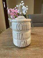 Rae Dunn By Magenta Coffee Tea Sugar Stackable Canister Set LL Large Letter New