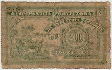 BRAZIL / BELEM PARA 1880 COMPANHIA PROTECTORA DA INDUSTRIA PASTORIL 200 R. SCRIP