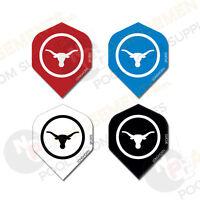 LONGHORN Dart Board Flights Quality Flights for Darts Set of 3 Choose Colour