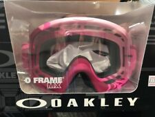 O Frame Oakley Razorwire Pink Rose Goggles With Clear Lens