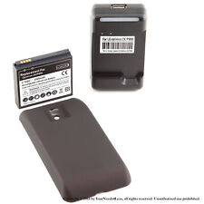 3500mAh Extended Battery for LG Optimus 2 x P990 G2 x Black Cover Dock Charger