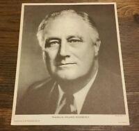 Vintage 1940 President FDR Franklin Roosevelt Political Campaign Poster WW2 WAR
