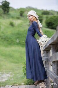 "25% DISCOUNT! Medieval  Dress Tunic ""Red Elise""; Dark Blue"
