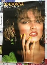Madonna Like a Virgin Giappone Promo Poster Display 1984 CD Material Girl Tour