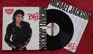 LP 33 MICHAEL JACKSON - BAD Vinile Prima Stampa Europea del 1987 Ottimo!!!