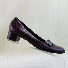 Clarks Artisan Womens Burgundy ActiveAIR Heel Block Slip On Shoes Sz 9N #A39