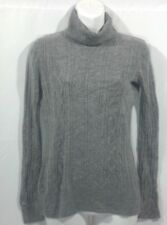 R. E. Q Required to Wear Gray Turtleneck Long Sleeve Women's Sweaters Size S