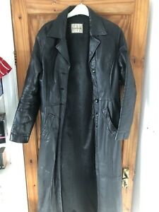 Leather Jacket Long Trench Coat