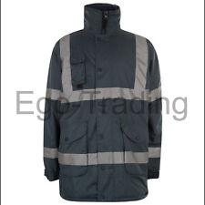 High Viz Safety Waterproof Storm Padded Warm Work Wear Construction Coat
