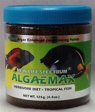NEW LIFE SPECTRUM ALGAEMAX HERBIVORE DIET FOOD 125 GM 1 mm SINKING PELLETS NLS