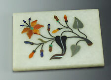 Pietra Dura  Pietre Dure Inlay Tile - Marble with semi-precious gemstone inlay