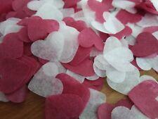 2300 confettis coeur bordeau et blanc Mariage Anniversaire Décoration table