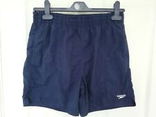 BOYS SPEEDO Net-Lined Swim Shorts with Drawstring. Navy Blue Size XL 12-13 Years