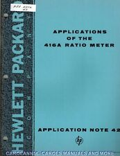 Hp Application Note 42 Applications Of The 4162 Ratio Meter