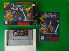 Lost Vikings 2, Super Nintendo Entertainment System SNES, Complete CIB Authentic