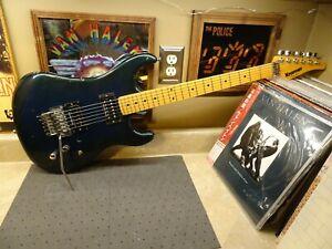 Kramer Pacer 1983 Sparkle Green Blue- Floyd Rose- Vintage Seymour Duncan Full Sh