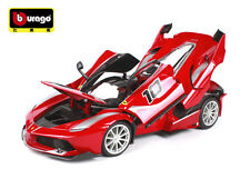 Burago FERRARI FXXK 1:18 Alloy Diecast Ferrari Racing Car No.10 Red Vehicles Toy