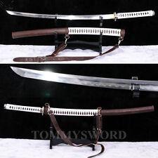 New Damascus Clay Tempered The Walking Dead Sword Michonne Katana Zombie Killer