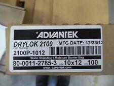 "DRI-SHIELD 2000 DRYLOK 2100 STATIC SHIELDING MOISTURE BARRIER BAG 10""x12"" 100 PK"