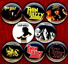 Thin Lizzy 8 NEW buttons pins badges Phil Lynott chinatown fighting black rose