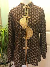 Women's Chinese Detail Mandarin Collar Traditional Oriental Blouse Top XL