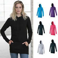 AWDis Girlie Longline Hoodie - Women's Long stylish casual fitted hooded sweat