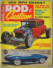 Rod & Custom December 1964 Trad Hot Rat Model A Coupe T Roadster Big Al Fiat A/F
