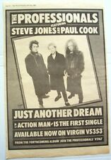 THE PROFESSIONALS 1980 POSTER ADVERT JUST ANOTHER DREAM sex pistols