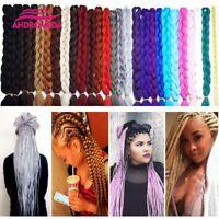 "New Jumbo Braids 82"" Kanekalon Long Crochet Synthetic Hair Extensions Twist 165g"
