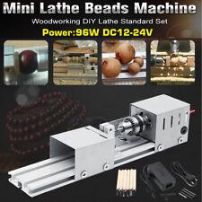 Mini Tour à bois Perceuse Électrique Machine à Perles Polissage Coupe Fraisage