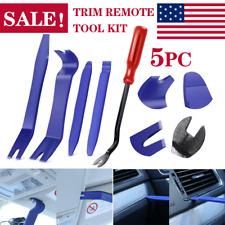 5Pcs Car Auto Trim Removal Tool Pry Door Panel Dash Radio Body Interior Clip Kit