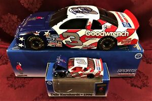 DALE EARNHARDT #3 GM Goodwrench Service Olympics 1996 1/24 Bank  1/64 HO Car SET