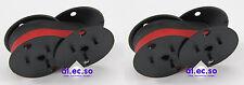 2x Farbband für Olivetti ECR2350 schwarz/rot druckend Rech inkl MwSt.