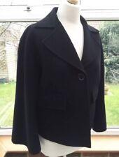 Jaeger Ladies  Black Wool & Angora Kimono Sleeve Jacket Size M, Excellent