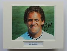 ALAN CURTIS Swansea City HAND SIGNED Autograph Photo Mount Display COA Wales