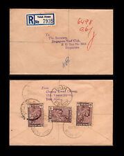 Malaya/Malaysia Perak 1961 regd cover to Singapore, Teluk Anson despatch pmk.