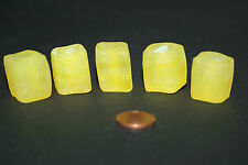 5 X Recyled glas krobo dogon bead opal gelb