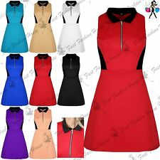Collared Party Skater Dresses for Women