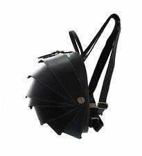 Unisex Leather Backpack Large Handbag Travel Casual Bag Pangolin Armadillo Black