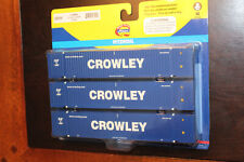 HO SCALE ATHEARN . CROWLEY  - 53' JINDO  CONTAINER (3-PACK) . BRAND NEW.