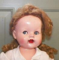 Saucy Walker Doll Ideal 22 in Hard Plastic Vintage Great Coloring Flirty Eyes