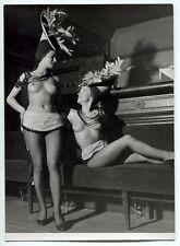 2 Photos - À l'Indifférent - Danseuses - Topless - Chapeaux - Tirages 1947 -
