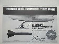 4/1977 PUB MARQUARDT RMK-19 TOW TARGET REELING MACHINE ENGIN CIBLE ORIGINAL AD