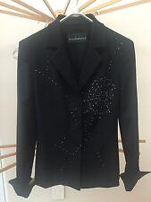 Roccobarocco Black Sequin Jacket Blazer