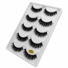 5 pares 3D Pestañas Visón dramático hecho a Mano Natural Falso Pestañas Para Maquillaje